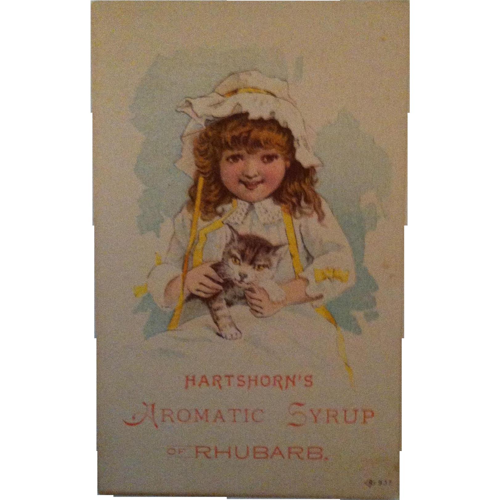 Hartshorn's Aromatic Syrup Rhubarb Trade Card