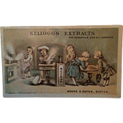 Kellogg's Extract For Caramels & All Candies Advertising Trade Card