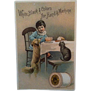 J&P Coats 1887 Calender Advertising Trade Card