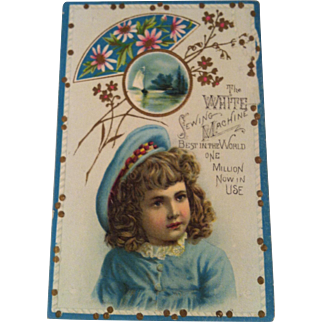White Sewing Machine Advertising Trade Card