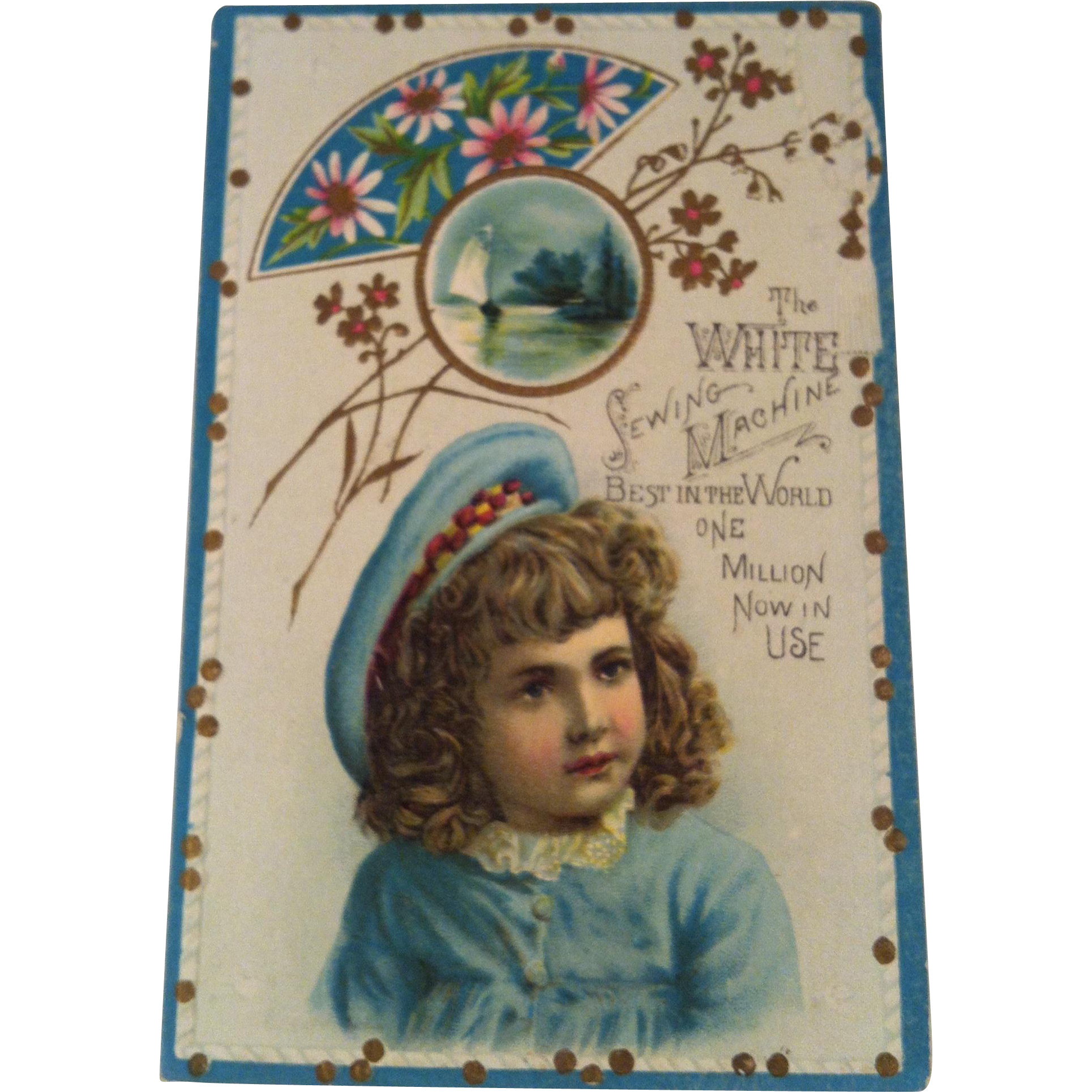 White Sewing Machine Advertising Trade Card