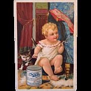 Eagle Brand Condensed Milk Advertising Trade Card ~ 1887