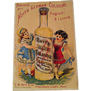 Hoyt's Cologne Advertising Trade Card