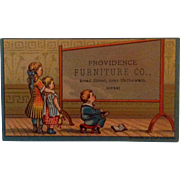 Providence Furniture Advertising Trade Card 1880