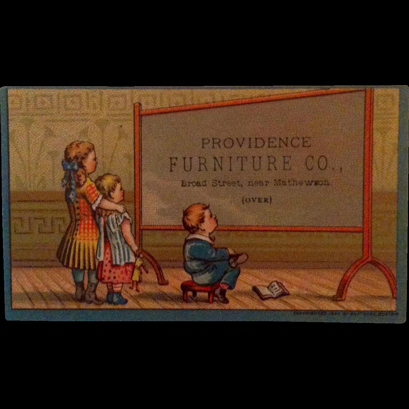 Providence Furniture Advertising Trade Card 1880