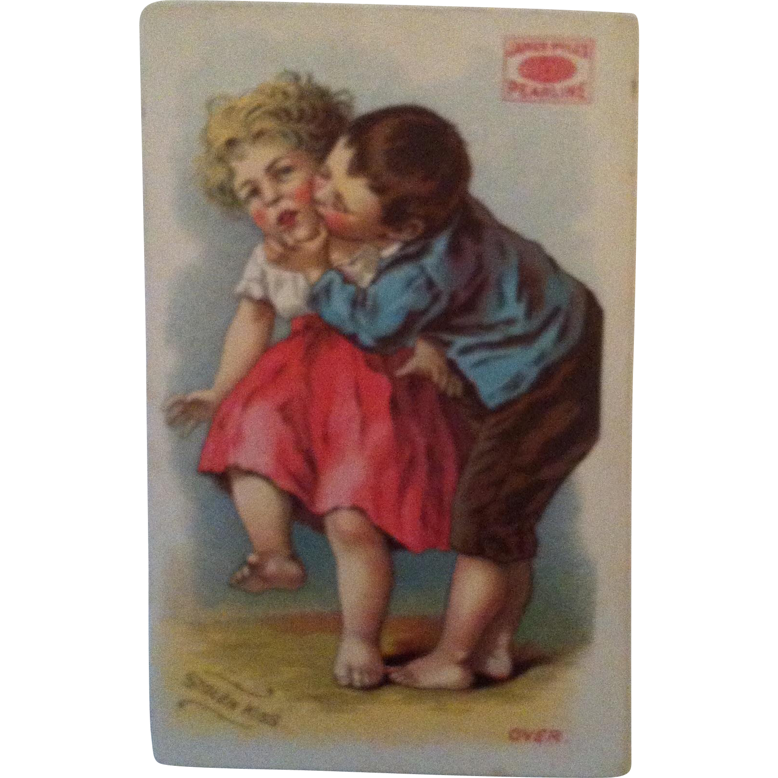 "Pearline Soap ""Stolen Kiss"" Trade Card"