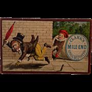 "Clark's Mile End ""Boy Tripping Man"" Trade Card"
