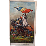 Ayer's Pills Battle Scene with Flag - trade Card