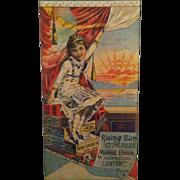 Rising Sun Stove Polish Trade Card