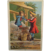 Acme Soap Girl Bathing in Well Trade Card
