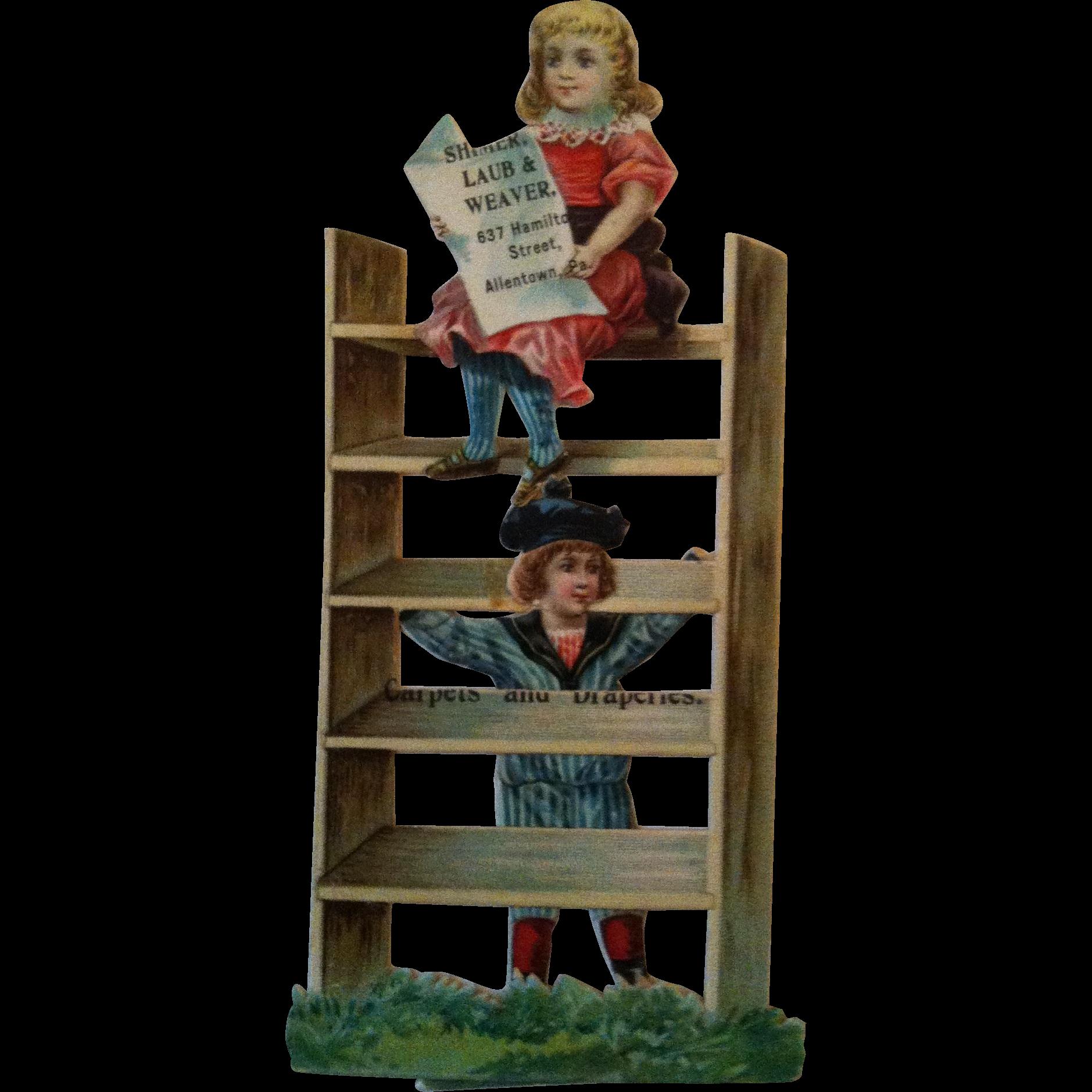 Shimer, Laub & Weaver Carpets & Drapes- Allentown Pa Advertising Trade Card