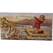 White Swan Soap Trade Card