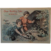 Chew Wedding Cake Plug ~ Advertising Trade Card