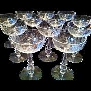 12 Tiffin Fleurette Champagne Tall Sherbet #17406