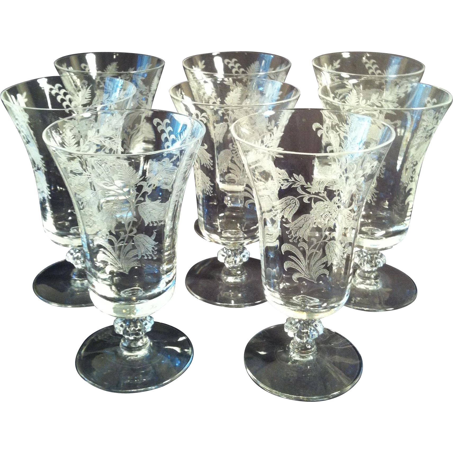 7~ Fuchsia Juice Glasses ~ Tiffin # 15083