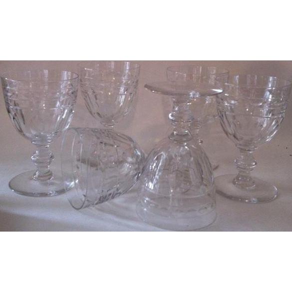 5 Tiffin Liege Water Goblets #17394