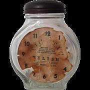 Tic Tic Embossed Clock Relish Jar