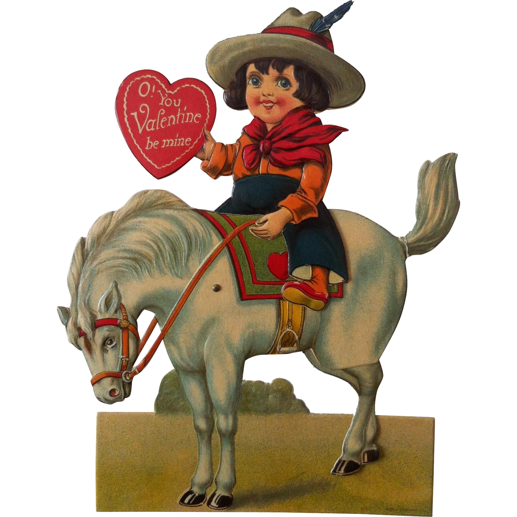 "8"" Mechanical Bucking Horse Valentine ~ Germany"