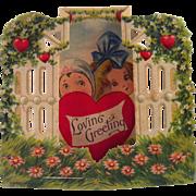 "German Stand Up ""Loving Greeting"" Valentine"