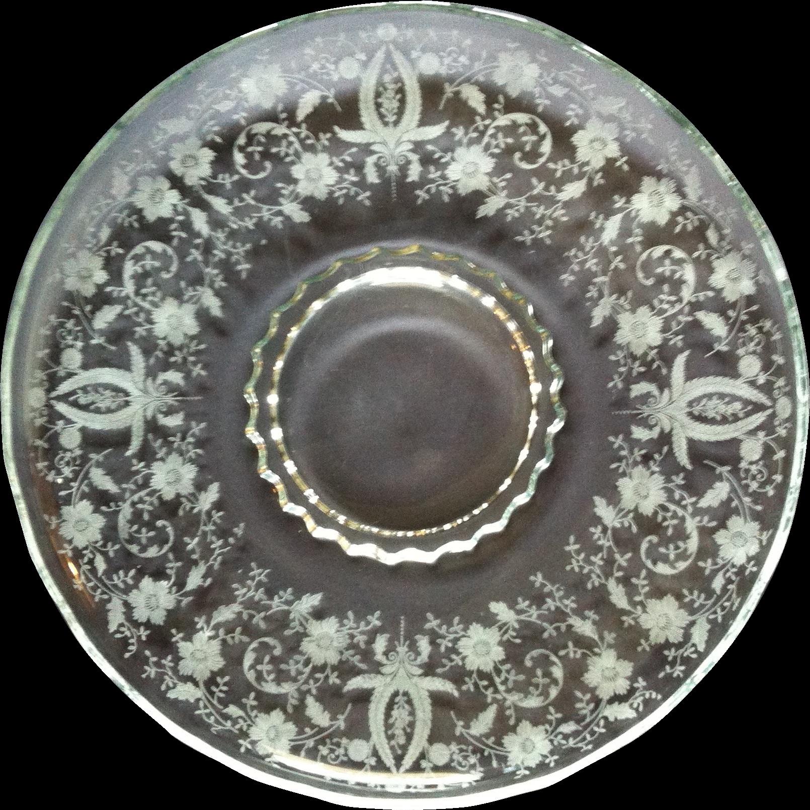 Viking Glass Prelude Sandwich/ Torte Platter
