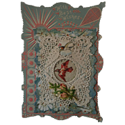 19th Century Paper Lace Valentine ~ Birds & Flowers
