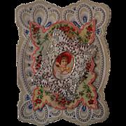 1890's Victorian Paper Lace Valentine ~ Book Piece