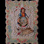 Late 1800's Paper Lace Valentine ~ unused