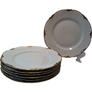 6 Bread & Butter Plates Warwick Chateau # 2100/1202