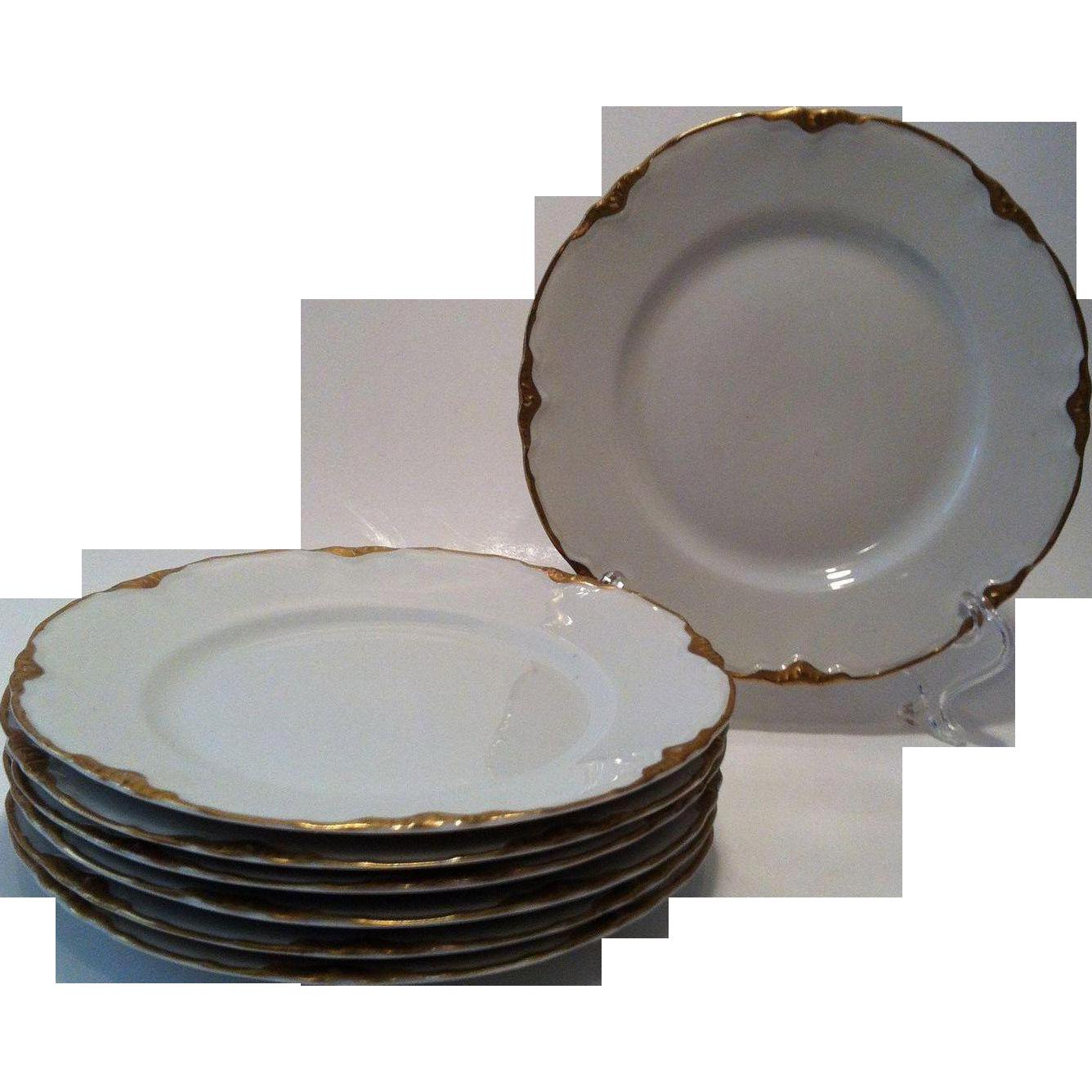 3 Bread & Butter Plates Warwick Chateau # 2100/1202