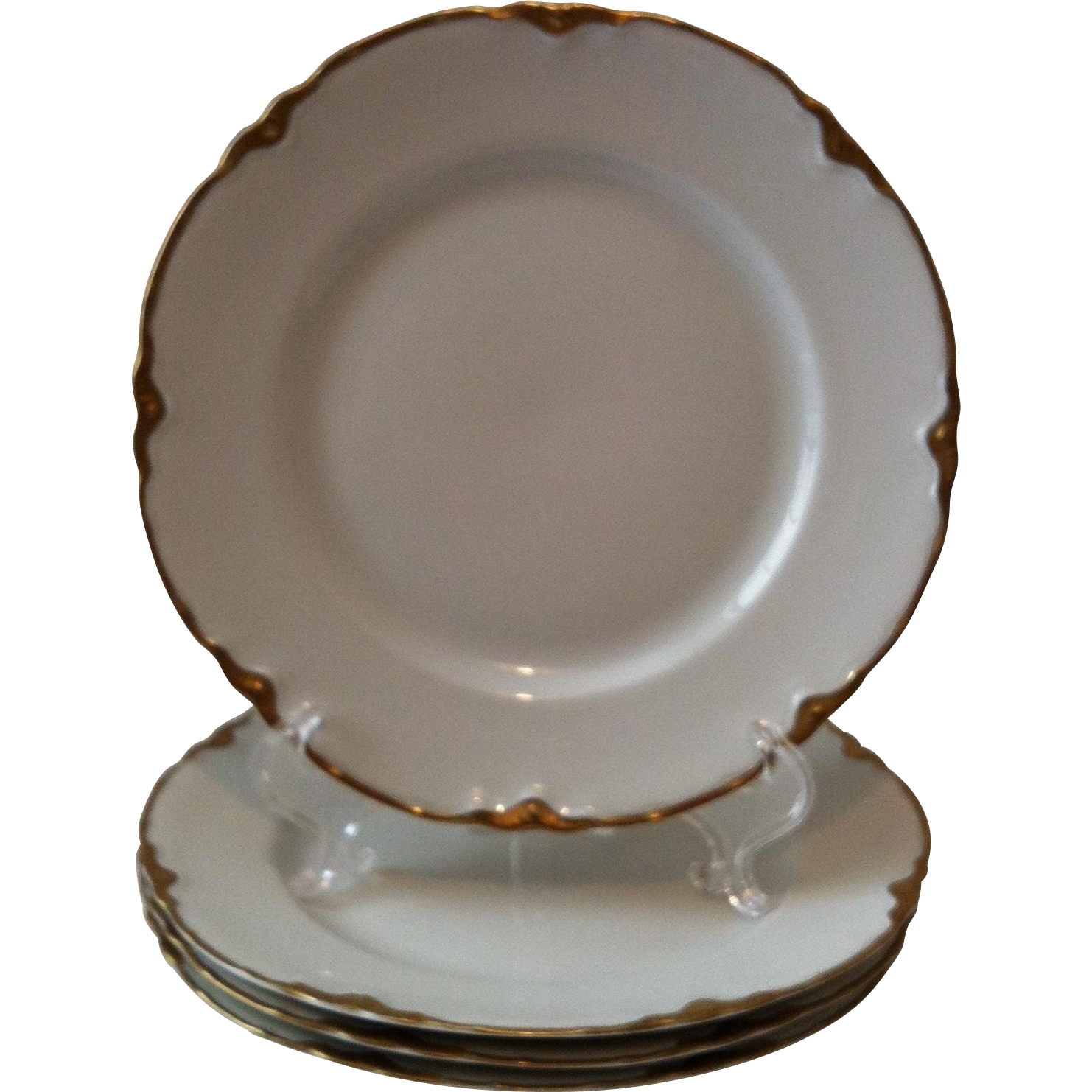 4 Dessert Plates Chateau by Warwick # 2100/1202