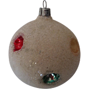 West German Mica Dot Indent Christmas Ornament