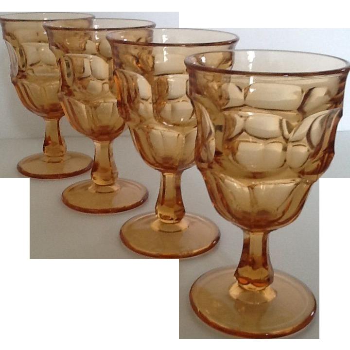 Westmoreland Ashburton Golden Sunset Water Goblets set of 4