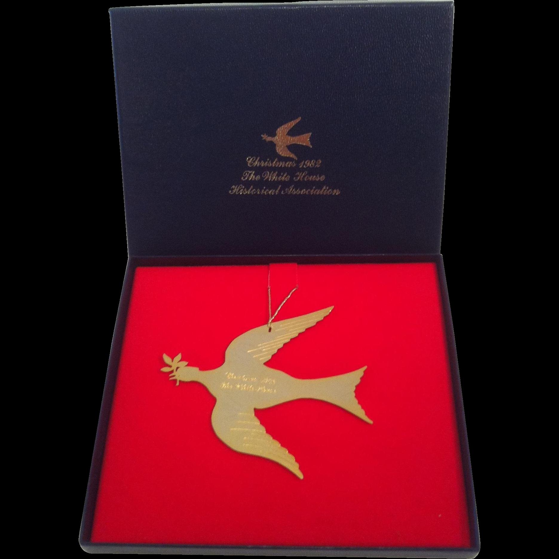 1982 White House Dove Of Peace Ornament