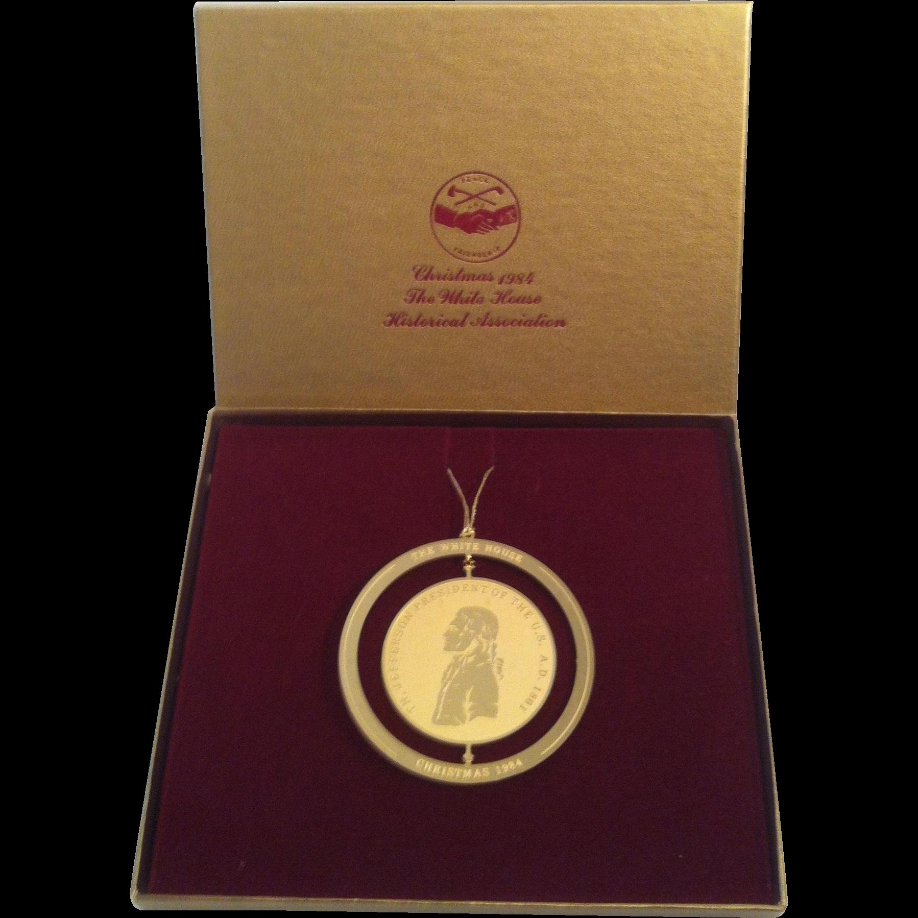 1984 White House Peace Metal Ornament