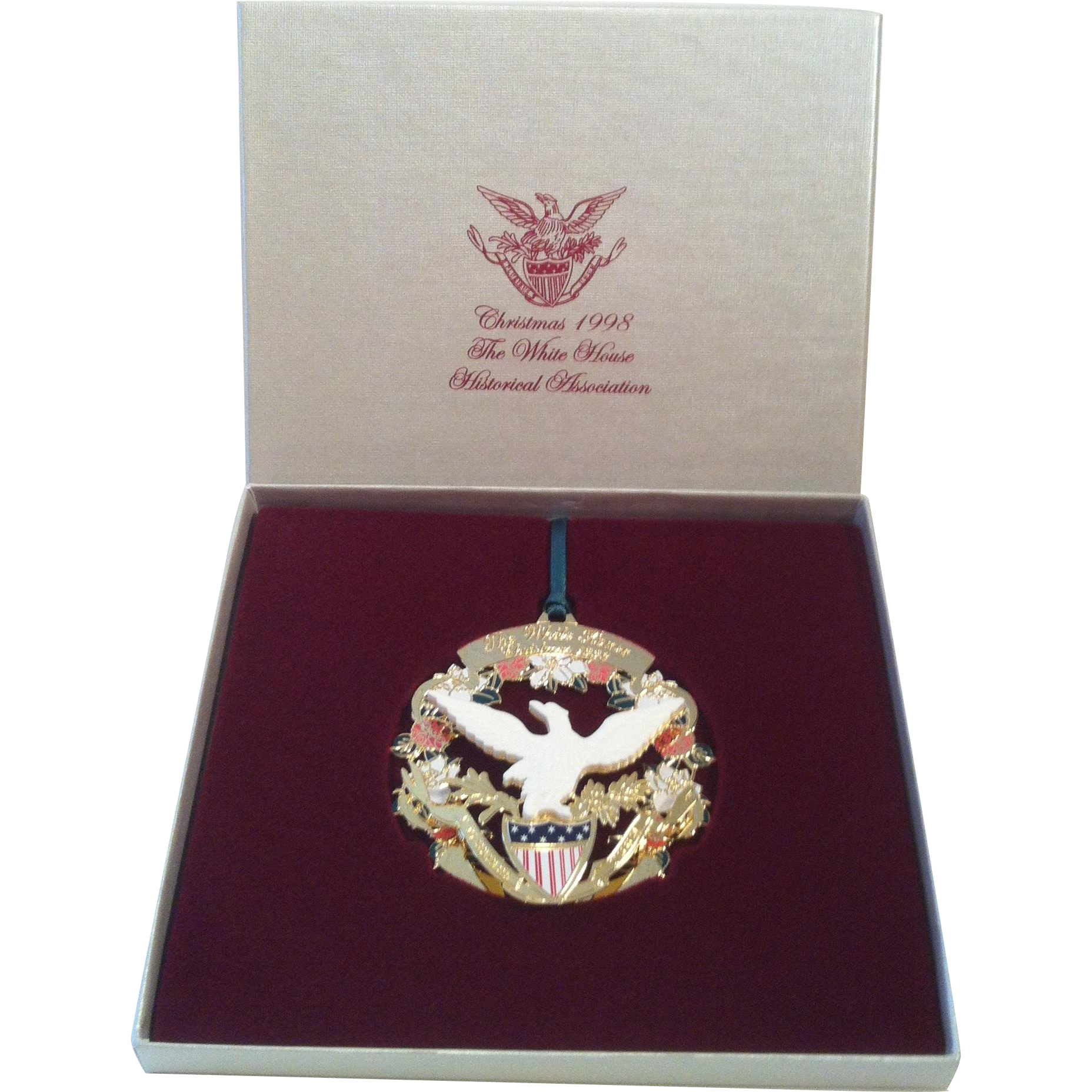 1998 White House Ornament ~ American Eagle & Shield