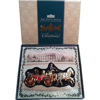2001 White House Ornament~ Carriage  Ride