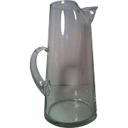 "12"" West Virginia Glass Pitcher"