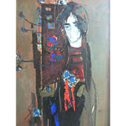 Zvi Mairovich Oil standing woman
