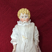Antique Parian Doll 15.3/8 inches tall.