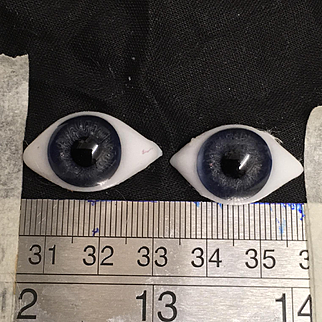 Antique paperweight glass eyes