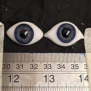 Large Antique paperweight glass eyes
