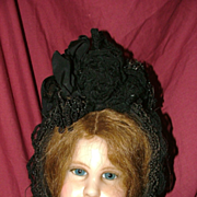 Antique black hat