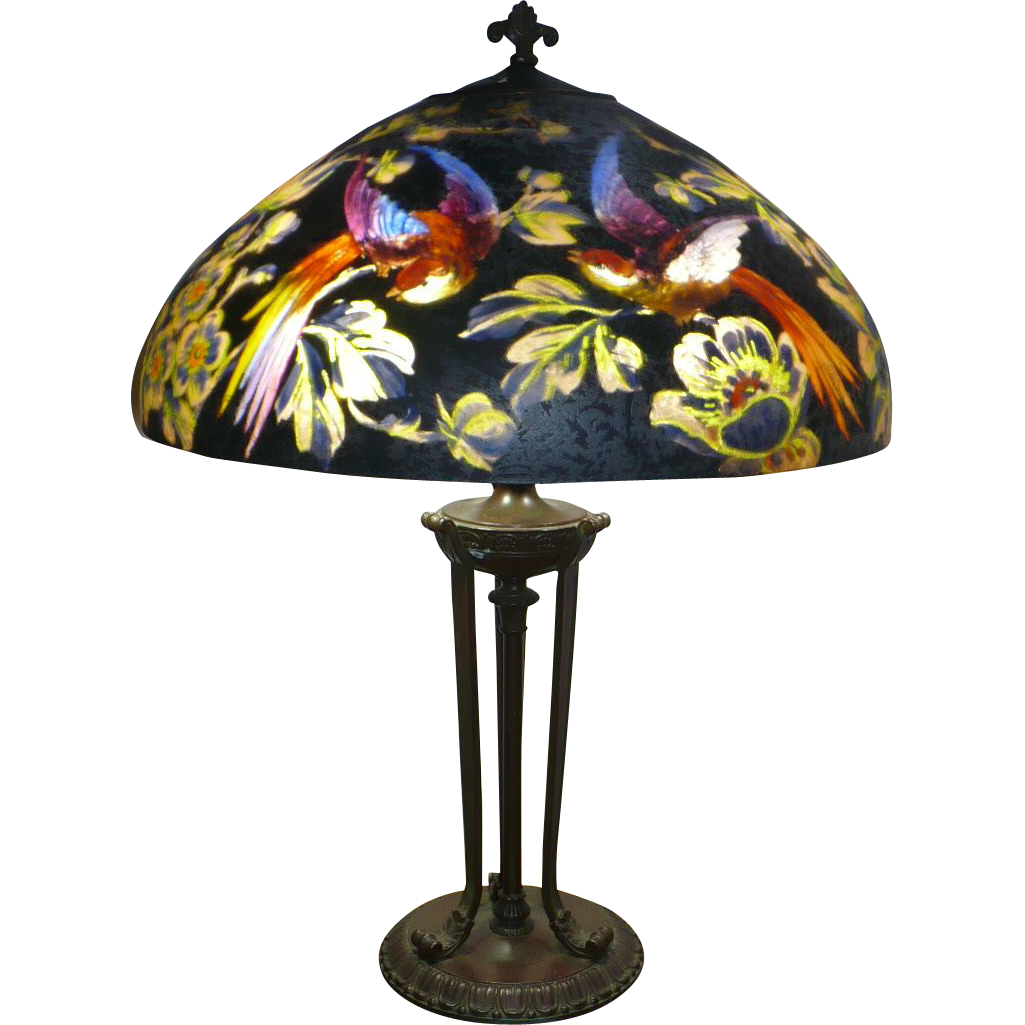 Handel 7026 Bird Of Paradise Lamp From