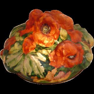 Paorpoint puffy orange poppy lamp