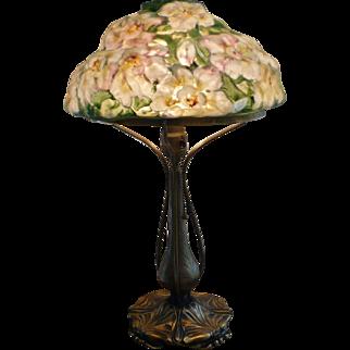 Pairpoint puffy azalea lamp
