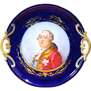 French Sevres style Painted Porcelain Tray of Louis XVI after Antoine Callet, 1786
