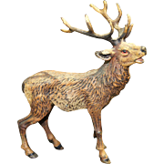 Bergman School Vienna Cold Painted Bronze Figure of Deer 20th century