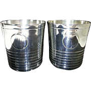 William Spratling Sterling Silver Two Cocktail Tumblers Circa 1962/64
