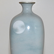 Meiji Period Japanese Enamel Moon Vase by Namikawa Sosuke Circa 1890s