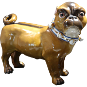 Conta~Boehme German Painted Porcelain Figure of Female Pug Circa 1930s
